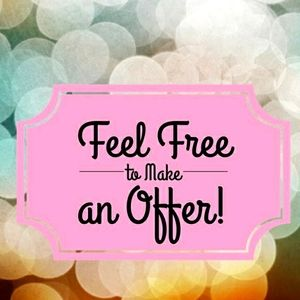 All reasonable offers will be accepted! 😊